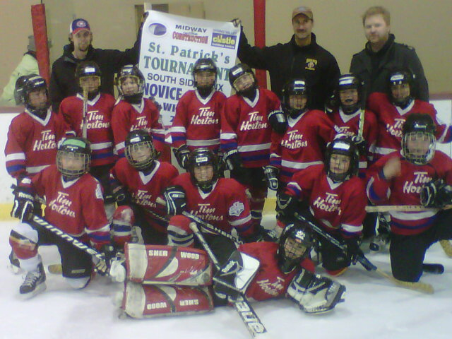 Novice A Tim Hortons Capitals - 2012 St Patricks Day Tournament Champions