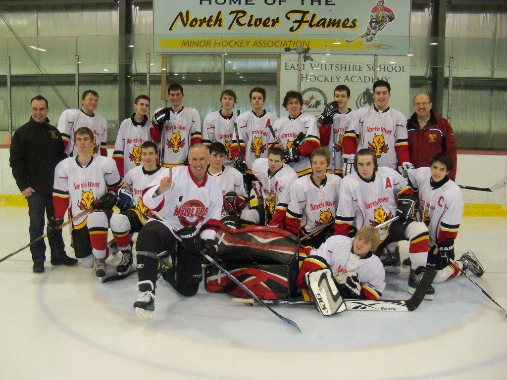 2011-12 Midget A Flames 1 With Ron MacLean - Feb 8, 2012