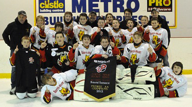 2012-13 Peewee AA 3Points Aviation Flames