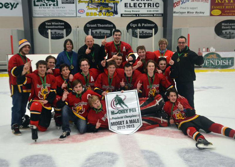 2012-13 Midget A West Masonry Flames Team 1
