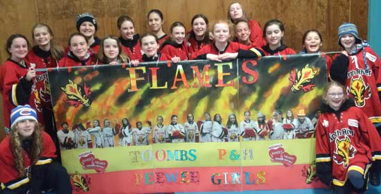 2015-16 Peewee A Toombs Plumbing And Heating Flames
