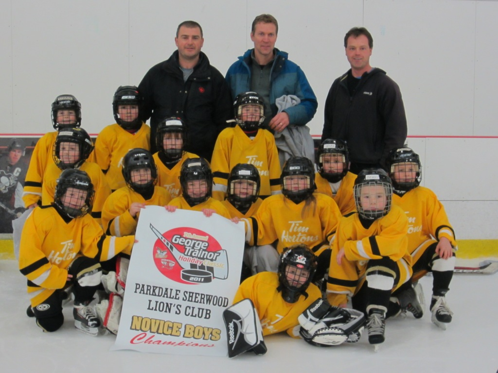 Novice A Tim Hortons Penguins - 2011 George Trainor Holiday Classic Champions