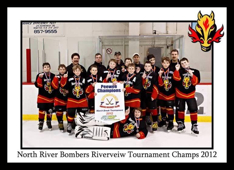 Peewee A Bell Aliant Bombers - 2012 Riverview Tournament Champions